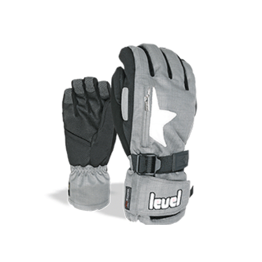 level star grey handschoenen