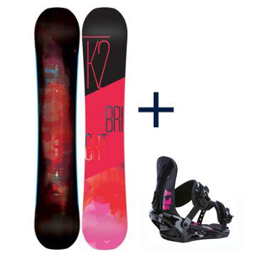 k2 brightlite snowboardset