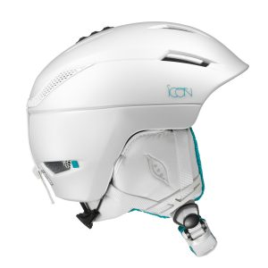 salomon icon white w dames skihelm