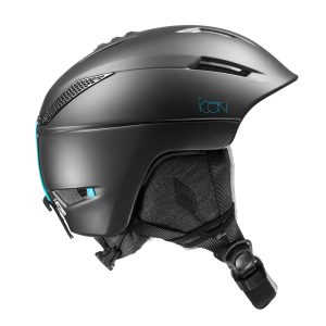 salomon icon2 black w dames skihelm