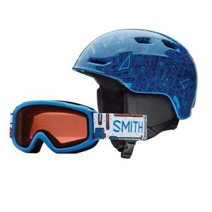 smith zoom combo blue jr skihelm