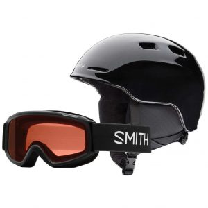 smith zoom sidekick black jr skihelm