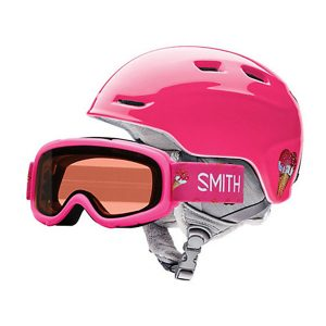 smith zoom combo pink sugar jr skihelm