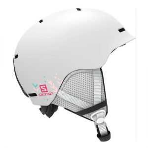 salomon grom white junior skihelm
