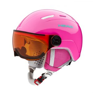 head maja visor pink junior skihelm