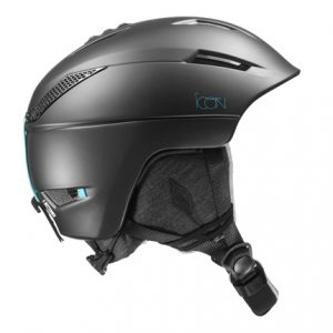 salomon icon black dames skihelm