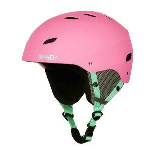 sinner bingham pink skihelm