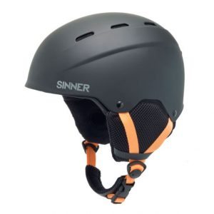 Sinner Poley black junior skihelm