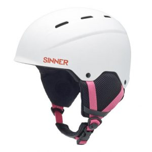 Sinner Poley white junior skihelm