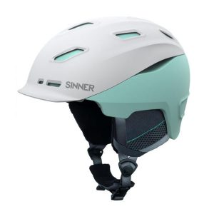 sinner moonstone white skihelm